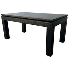 Newly Lacquered in Black Grasscloth Harrison Van Horn Coffee / Cocktail Table