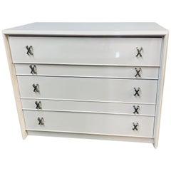 Newly Lacquered White Vintage Paul Frankl Chest of Drawers Dresser John Stuart