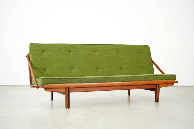 Danish Newly Upholstered Daybed by Poul M. Volther for Frem Røjle, 1950s For Sale