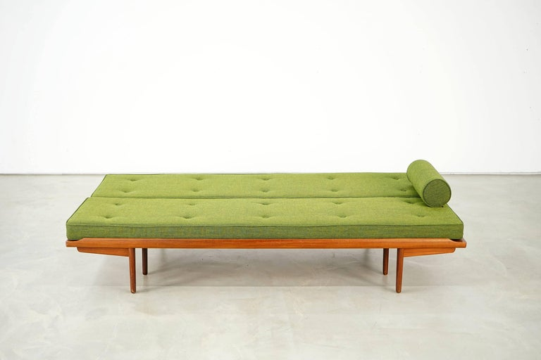 Teak Newly Upholstered Daybed by Poul M. Volther for Frem Røjle, 1950s For Sale