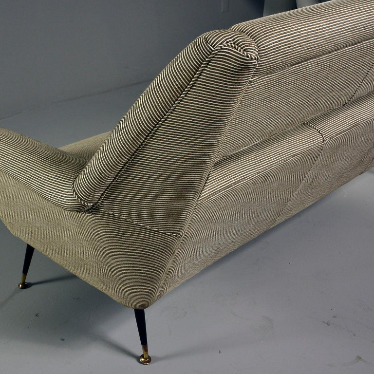 Mid-Century Modern Newly Upholstered Midcentury Settee or Sofa by Gigi Radice for Minotti For Sale