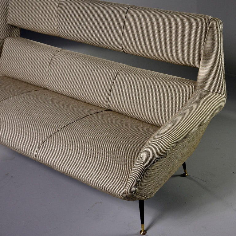 20th Century Newly Upholstered Midcentury Settee or Sofa by Gigi Radice for Minotti For Sale