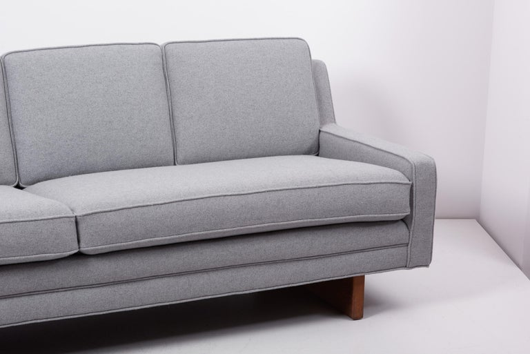 Fabric Newly Upholstered Sofa by Harvey Probber, US, 1950s For Sale