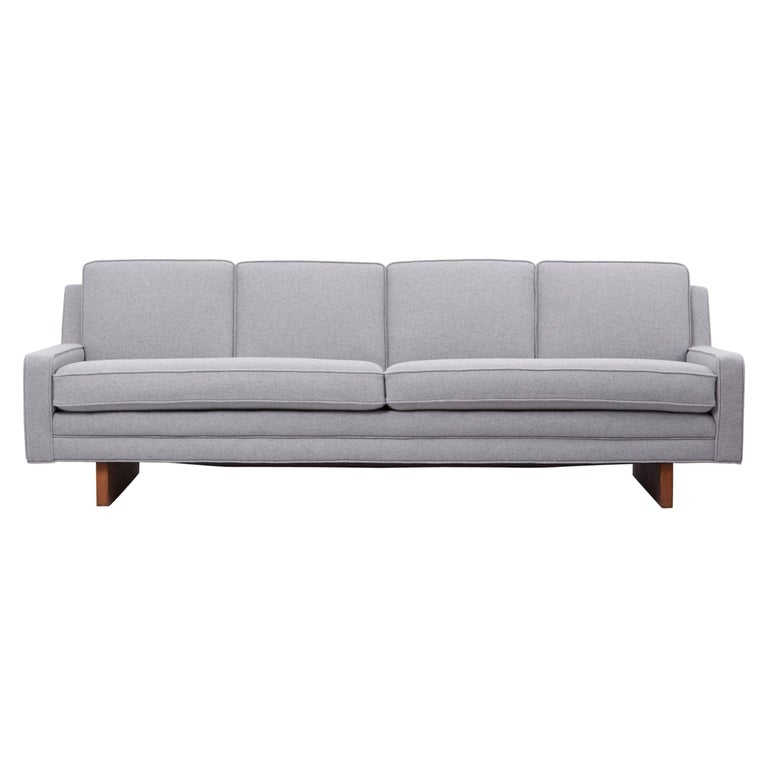 Newly Upholstered Sofa by Harvey Probber, US, 1950s For Sale