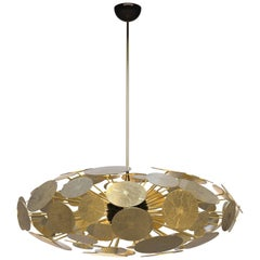 Newton Elliptic Chandelier in Aluminum and Gold-Plated Brass by Boca do Lobo