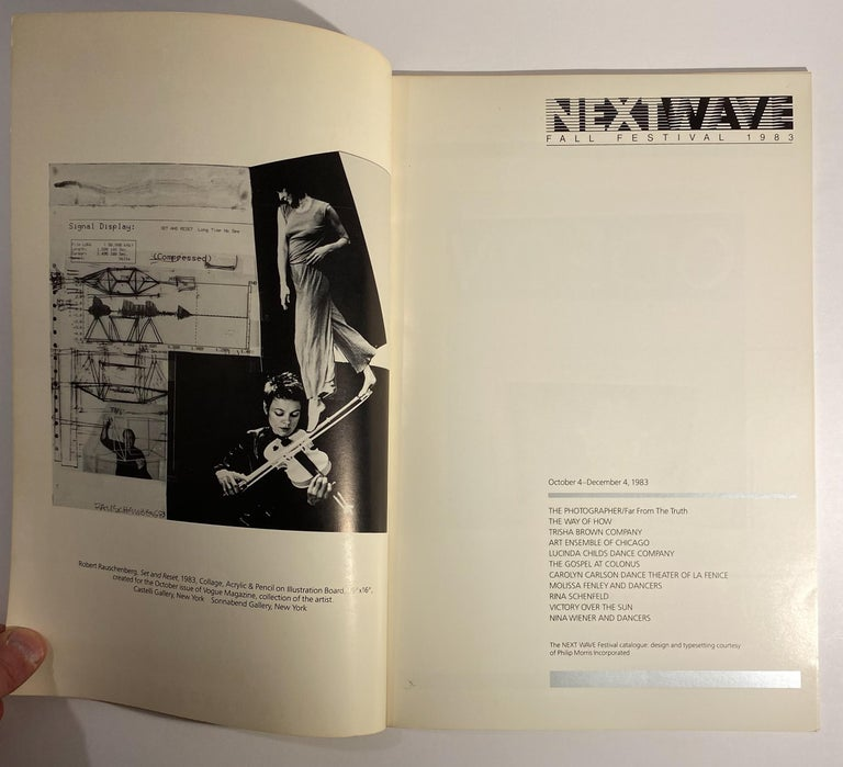 Modern Next Wave Festival Catalog with Roy Lichtenstein Cover For Sale
