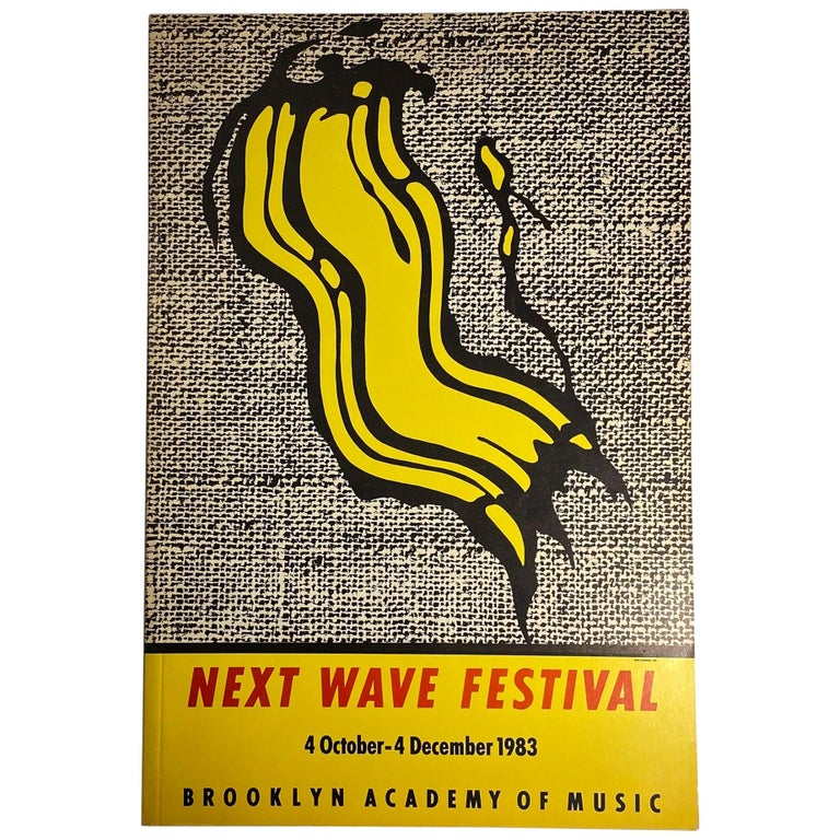 Next Wave Festival Catalog with Roy Lichtenstein Cover For Sale