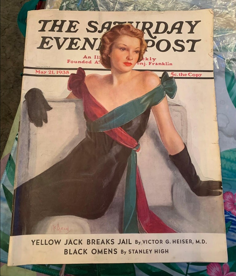 Pastel on board - Saturday Evening Post Cover, Evening Gown May 21st, 1938 - Reproduced version looks better because the Saturday Evening Post Art Director retouched the plates before printing and strengthened the colors to give it more newsstand
