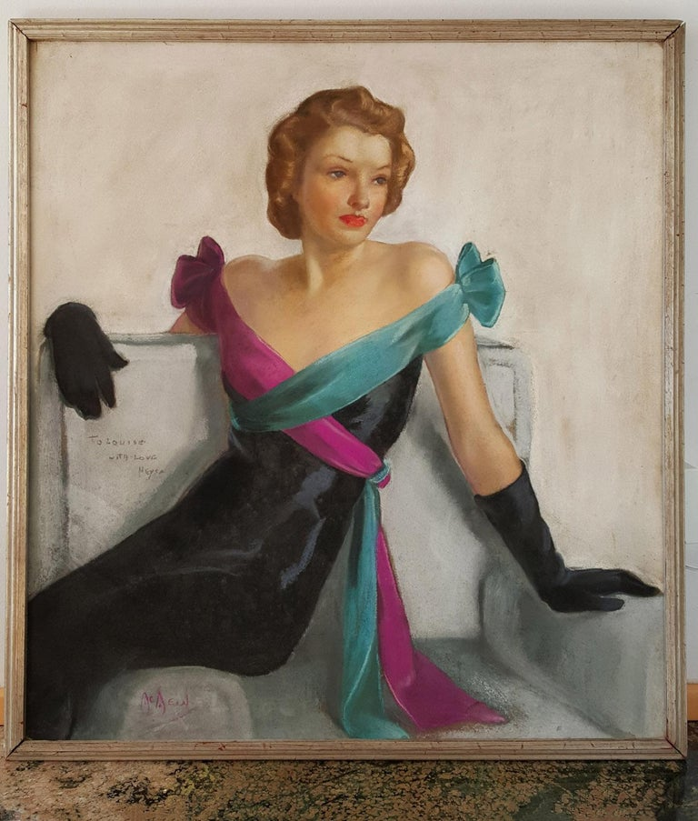 Neysa McMein Portrait Painting - Saturday Evening Post Cover, Evening Gown  May 21st, 1938