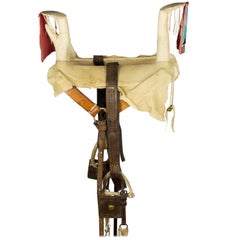 Nez Perce Hide and Beaded Competition Saddle