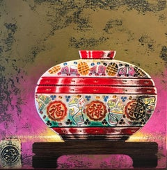 Longevity Original ceramic  still life painting Contemporary Art 21st Century