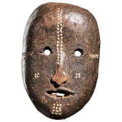 Ngbaka People, DRC.Ngbaka Face Mask with Dotted Polychrome