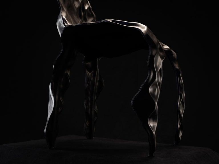 Australian Ngumu Janka Warnti Chair, Black, by Trent Jansen & Johnny Nargoodah For Sale