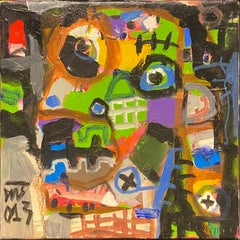 'The Professor' Mixed Media on Canvas Portrait