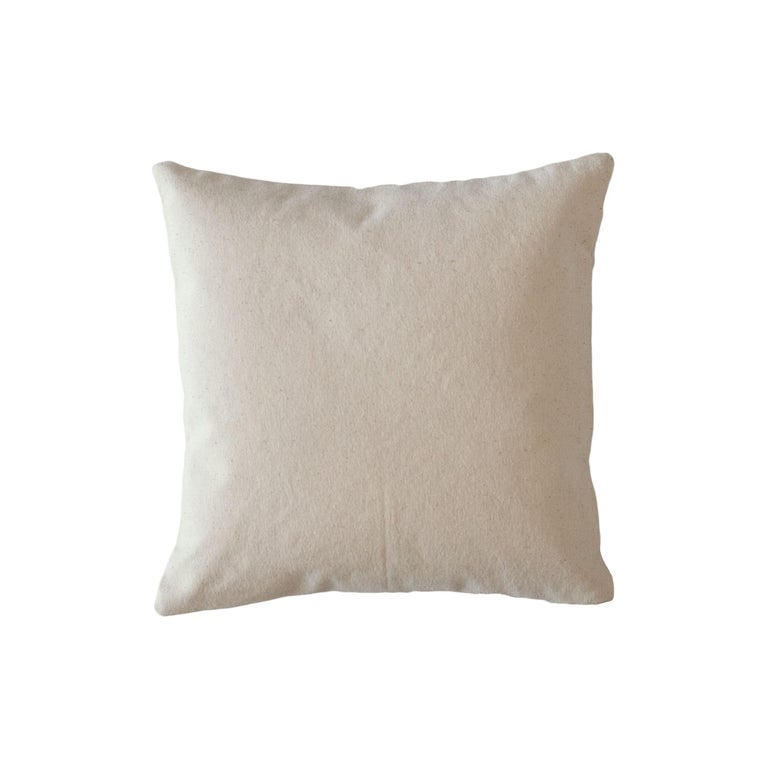 Nia Triangle Hand Embroidered Modern Geometric Throw Pillow Cover In New Condition For Sale In Westfield, NJ
