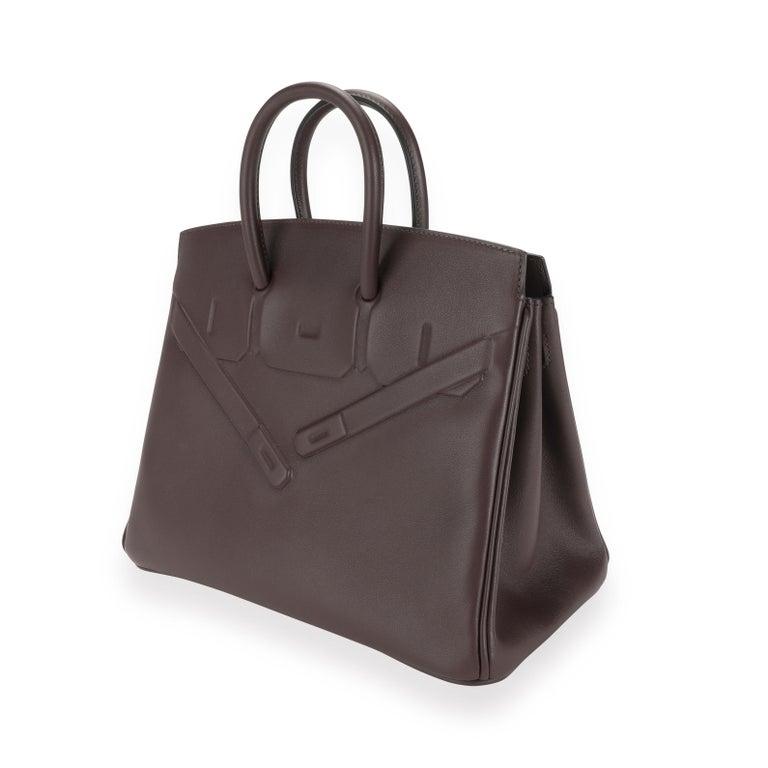 NIB Hermès Bordeaux Evercalf Shadow Birkin 25 SKU: 111667 MSRP:   Condition: Pre-owned (3000) Condition Description:  Handbag Condition: Mint Condition Comments: Mint Condition. No visible signs of wear. Final sale. Brand: Hermès Model: