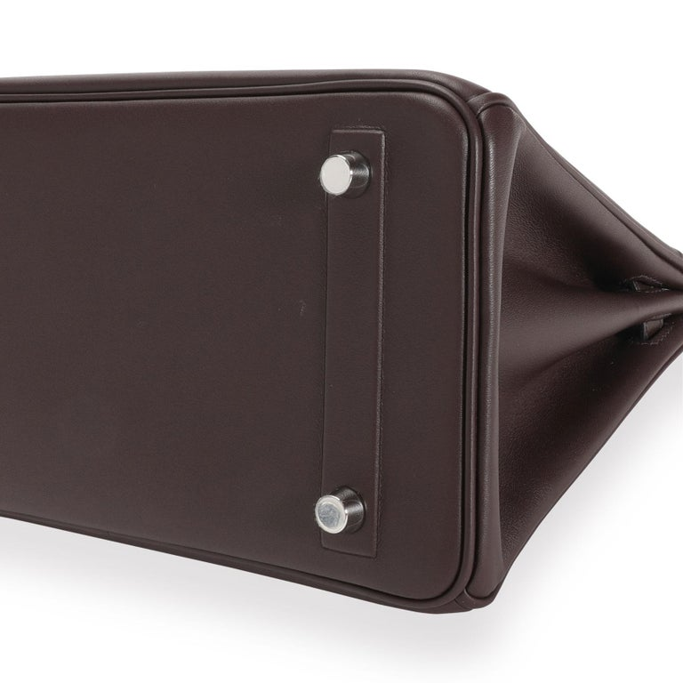 NIB Hermès Bordeaux Evercalf Shadow Birkin 25 For Sale 1