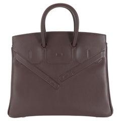 NIB Hermès Bordeaux Evercalf Shadow Birkin 25