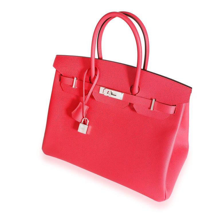 Listing Title: NIB Hermès Rose Extreme Epsom Birkin 35 PHW SKU: 109749   Condition: Pre-owned (3000)  Handbag Condition: Mint Condition Comments: Mint Condition. Plastic on hardware. No visible signs of wear. Final sale.  Brand: Hermès Model:
