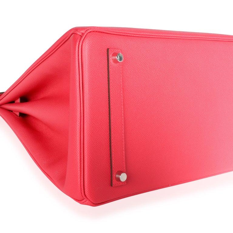 NIB Hermès Rose Extreme Epsom Birkin 35 PHW For Sale 1