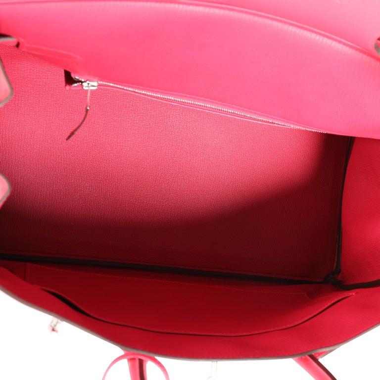 NIB Hermès Rose Extreme Epsom Birkin 35 PHW For Sale 2