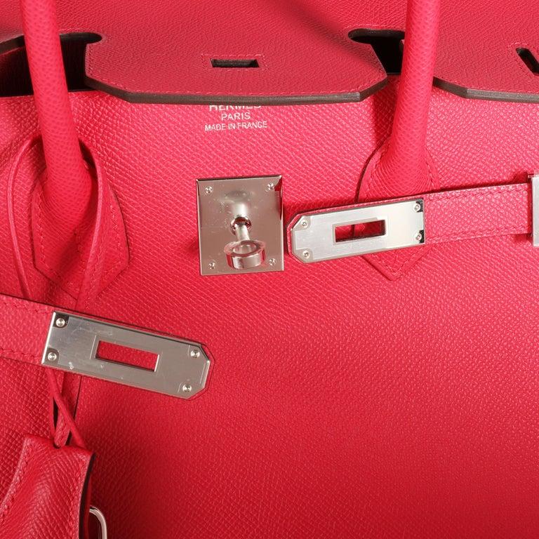 NIB Hermès Rose Extreme Epsom Birkin 35 PHW For Sale 3