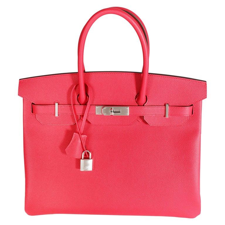 NIB Hermès Rose Extreme Epsom Birkin 35 PHW For Sale