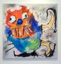 Nic Mathis, Untitled (Ski), abstract monster canvas wall art painting