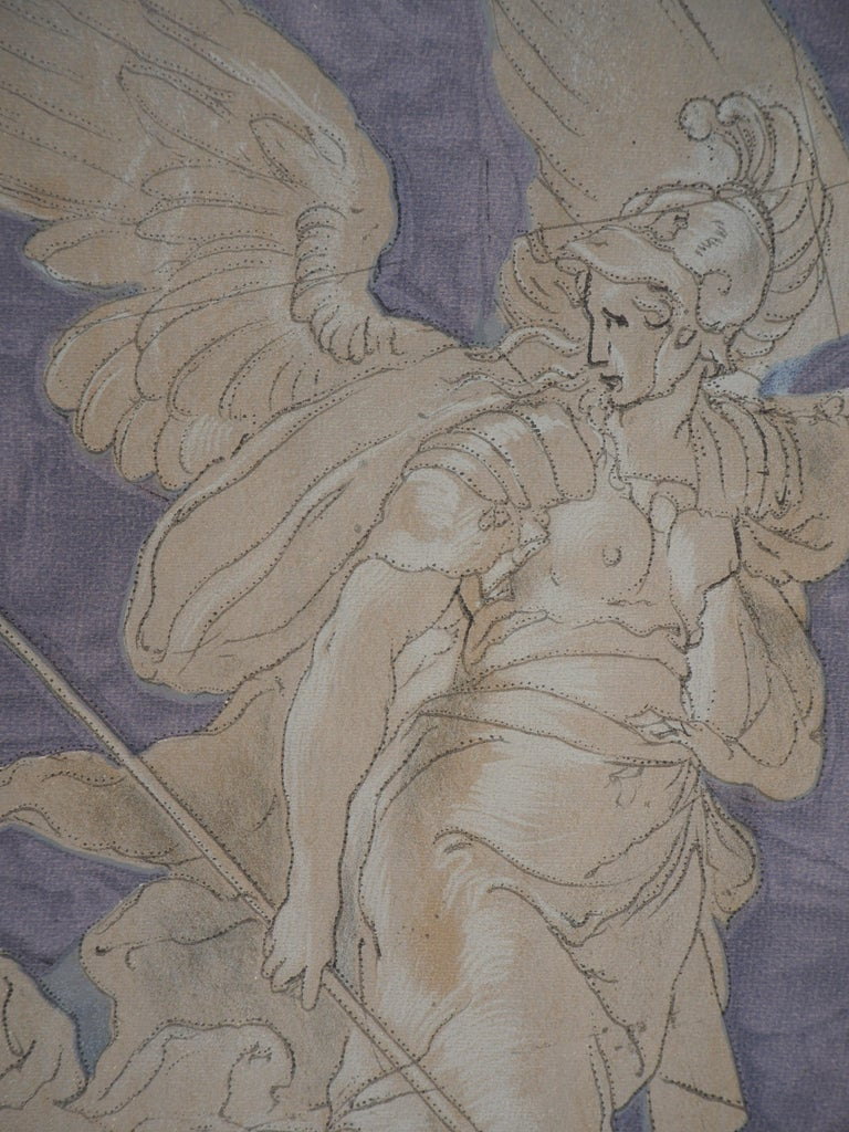 Victory Angel - Lithograph - Print by Niccolo dell'Abbate
