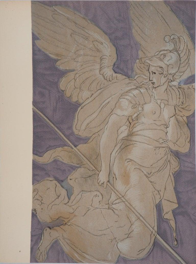 Niccolo dell'Abbate  Figurative Print - Victory Angel - Lithograph