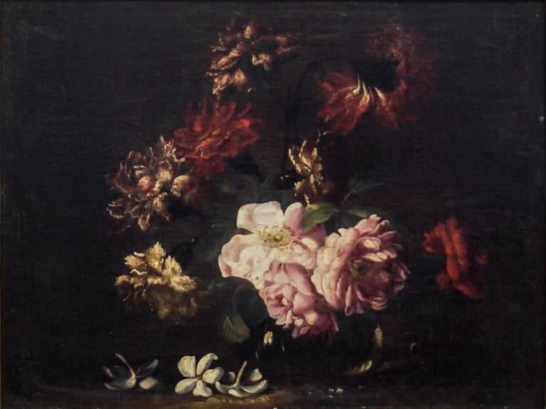 Niccolò Stanchi Still-Life Painting - Pair fo Still Lives - Original Oil on Canvas by N. Stanchi - Late 17th Century
