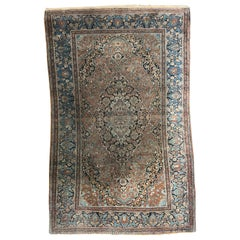 Nice Antique Fine Kashan Rug