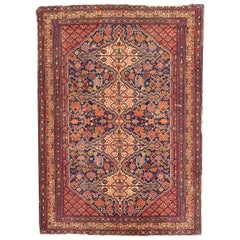 Nice Antique French Shiraz Design Knotted Rug