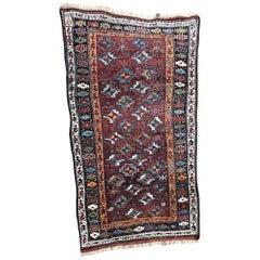Nice Antique Kurdish Kazak Rug