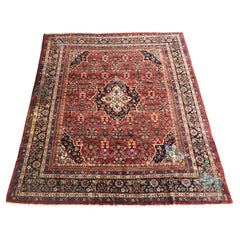 Nice Antique Large Mahal Style Rug