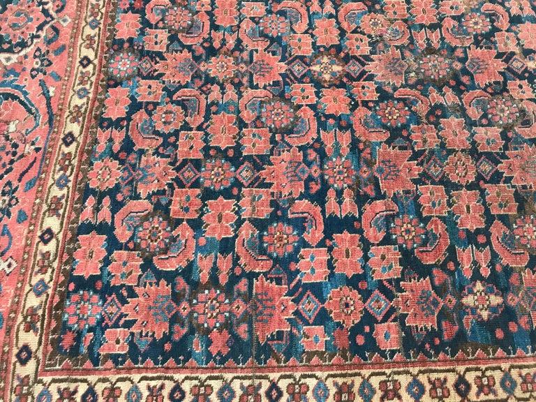 Nice Antique Long Beshir Afghan Rug For Sale 3