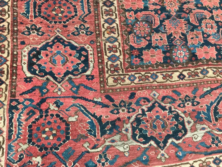 Nice Antique Long Beshir Afghan Rug For Sale 4