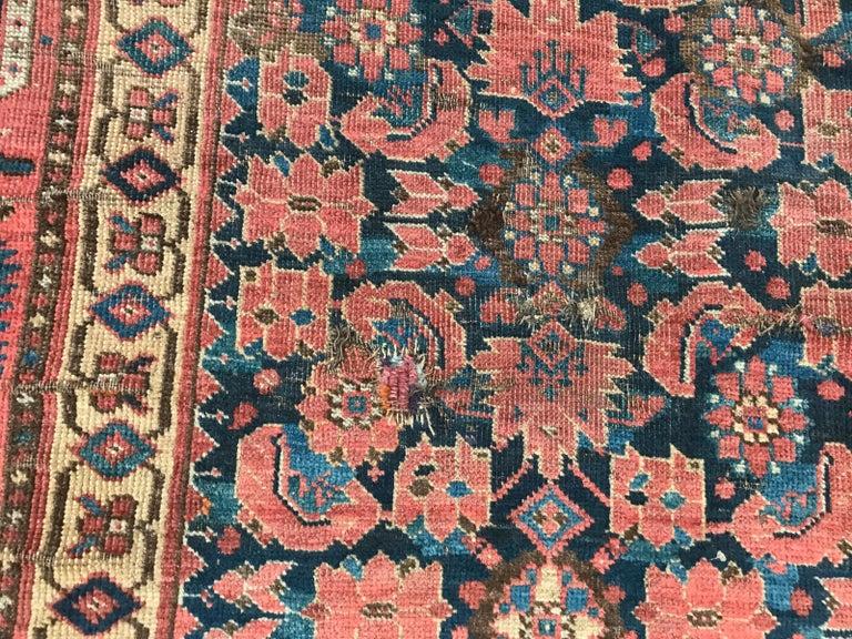 Nice Antique Long Beshir Afghan Rug For Sale 7