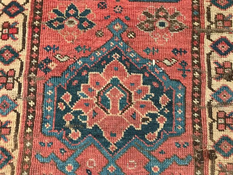 Nice Antique Long Beshir Afghan Rug For Sale 8