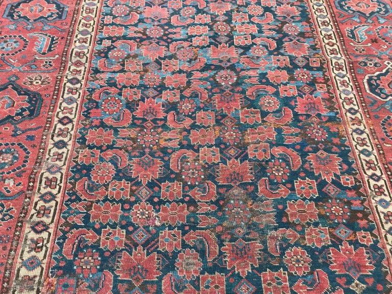 Nice Antique Long Beshir Afghan Rug For Sale 9