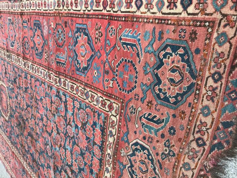 Nice Antique Long Beshir Afghan Rug For Sale 10