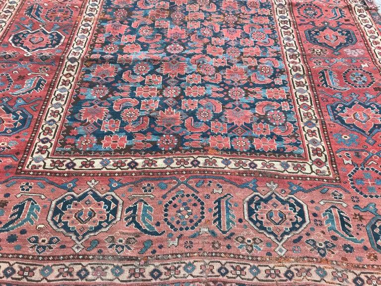 Nice Antique Long Beshir Afghan Rug For Sale 11