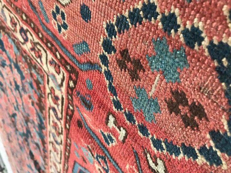 Nice Antique Long Beshir Afghan Rug For Sale 12