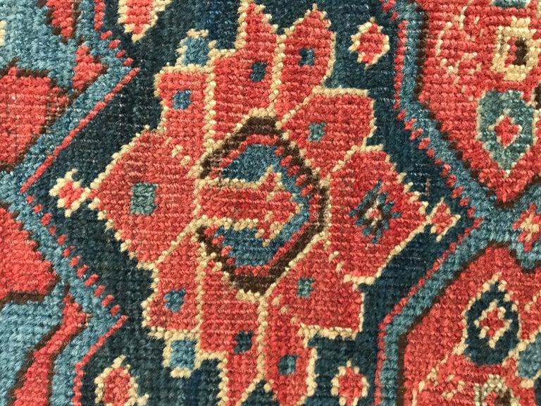 Nice Antique Long Beshir Afghan Rug For Sale 13