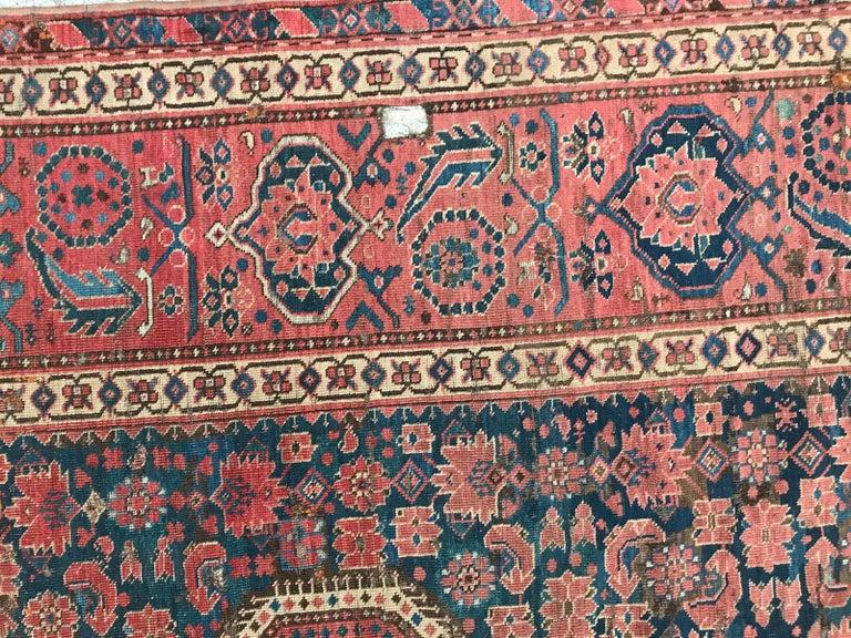 Kazak Nice Antique Long Beshir Afghan Rug For Sale