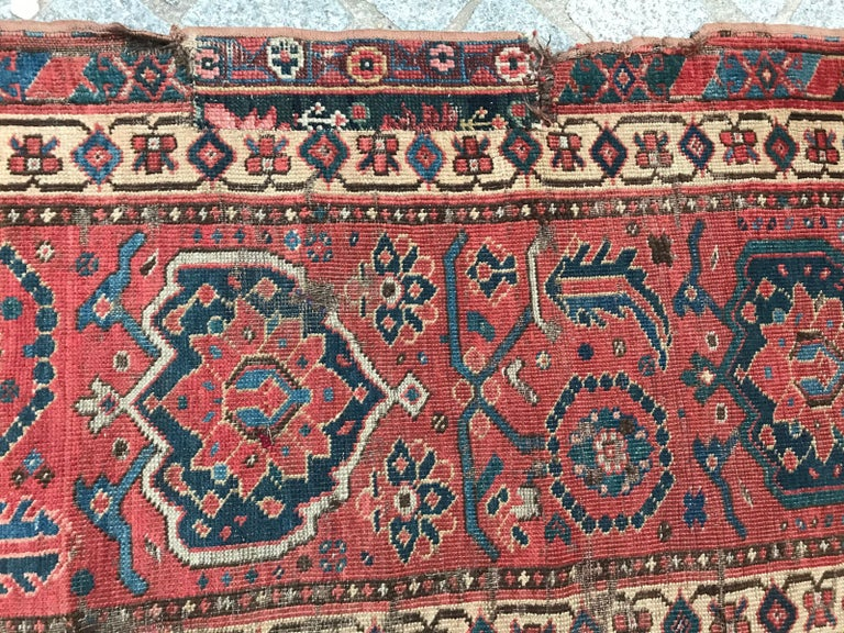 19th Century Nice Antique Long Beshir Afghan Rug For Sale