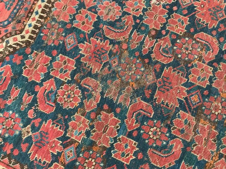 Wool Nice Antique Long Beshir Afghan Rug For Sale