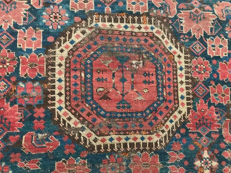 Nice Antique Long Beshir Afghan Rug For Sale 1