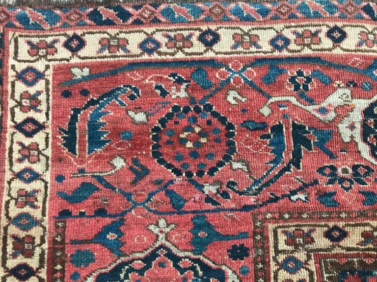 Nice Antique Long Beshir Afghan Rug For Sale 2