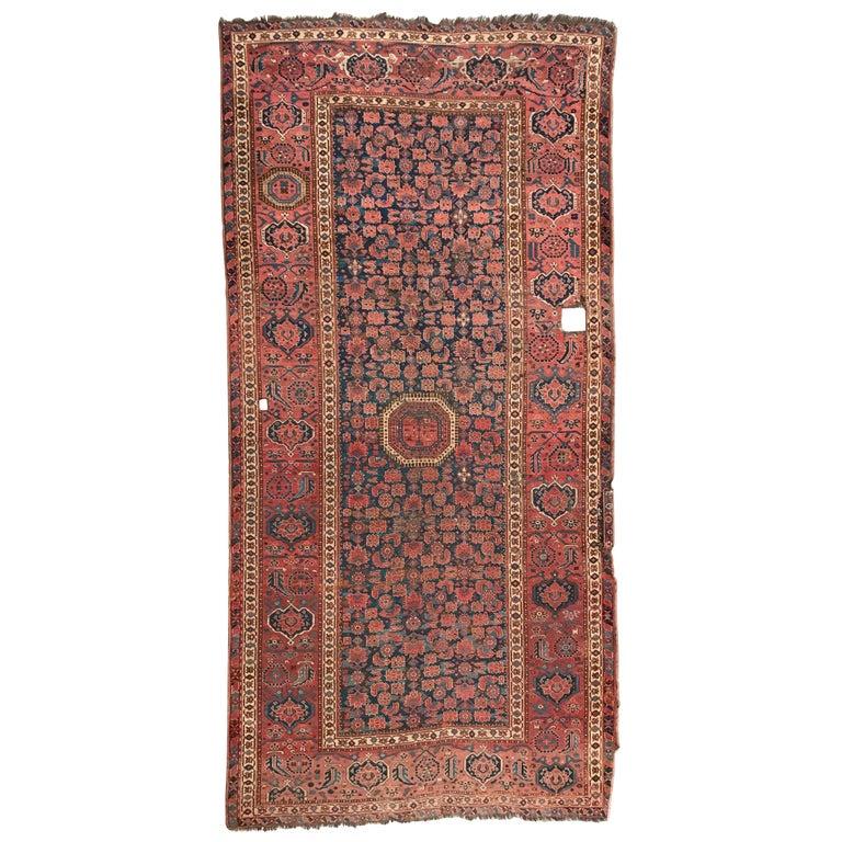 Nice Antique Long Beshir Afghan Rug For Sale